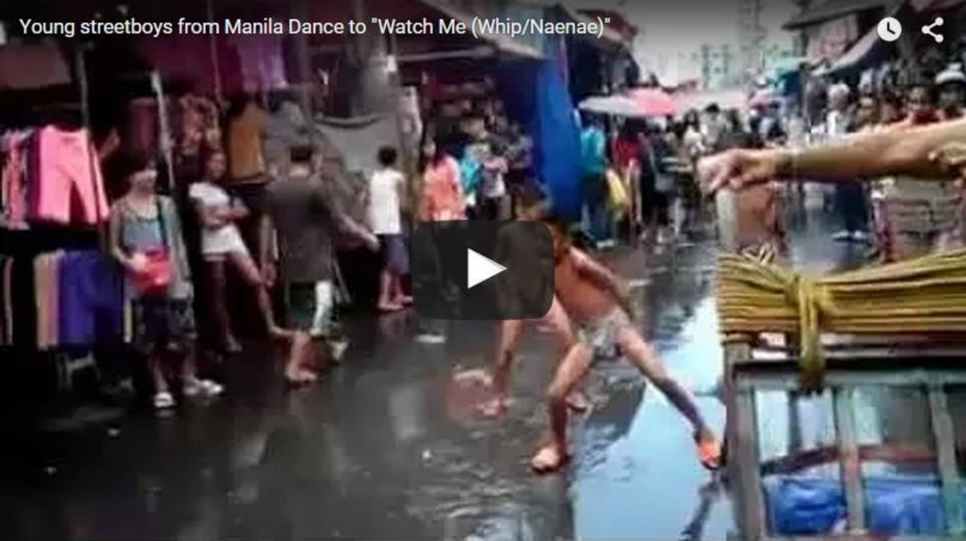 watch young street boys from manila dance to watch me whip nae