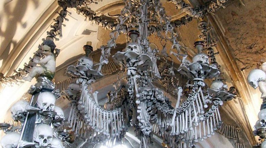 Look Chandelier Made Entirely Of Human Bones