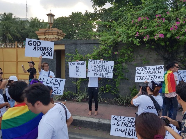 Religious Protesters in Gay Pride 2017