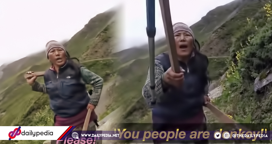 23af9e55f Native Nepalese Woman Loses It and Throws Rocks At Abusive Tourists