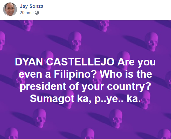 "Dyan Castillejo Draws Flak After ""Your President"" Remark"