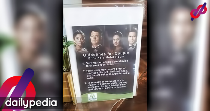 Hotel S Guideline On Requiring Couples To Present Proof Of